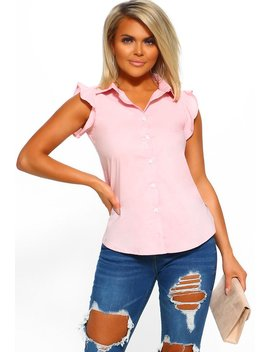 Heart In Your Hands Blush Pink Sleeveless Shirt by Pink Boutique