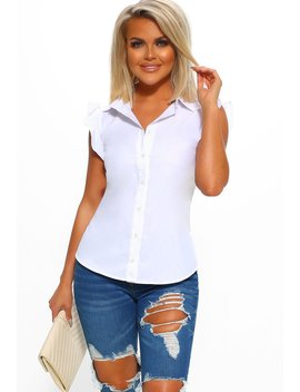 Heart In Your Hands White Sleeveless Shirt by Pink Boutique