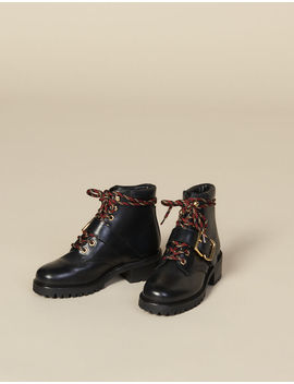 Smooth Leather Ranger Boots by Sandro Eshop