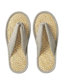 Malay Grass Sandals Linen Plain Weave by Muji