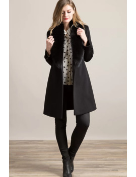 Gillian Loro Piana Wool Coat With Fox Fur Trim by Overland
