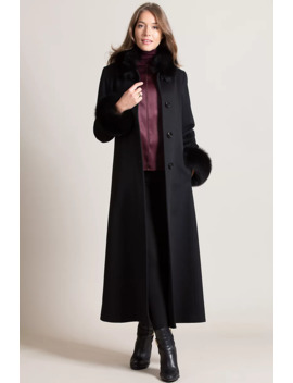 Lydia Loro Piana Wool Coat With Fox Fur Trim by Overland