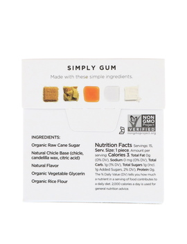 Simply Gum, Gum, Natural Maple, 15 Pieces by Simply Gum
