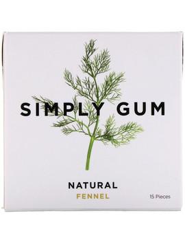 Simply Gum, Gum, Natural Fennel, 15 Pieces by Simply Gum