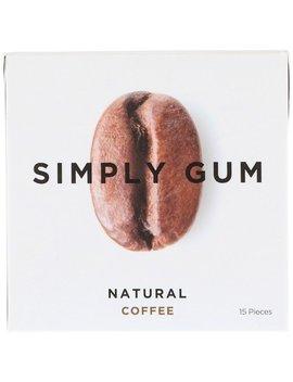 Simply Gum, Gum, Natural Coffee, 15 Pieces by Simply Gum