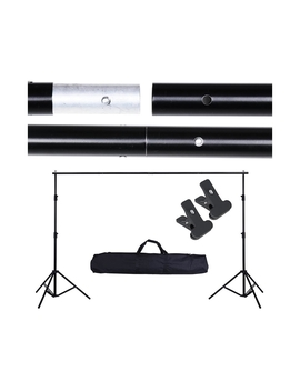 Yescom 3x2 M Portable Photography Backdrop Stand Kit Muslin Background W/ 2 Clamps Bag by Yescom