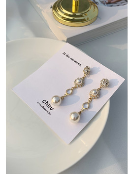 [Chuu] Four Drop Pearl Earring by Chuu
