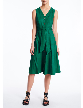 Eva Go Green Stretch Linen Dress by Marcs