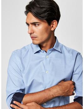Modrá Formální Kostkovaná Slim Fit Košile Selected Homme One New by Selected Homme