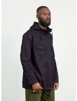 Fineline Twill Cagoule Shirt Navy by Engineered Garments