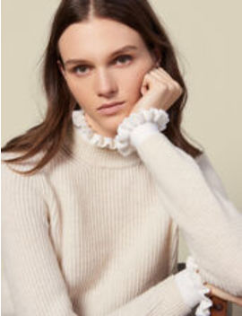High Neck Sweater And Contrasting Cuffs by Sandro Eshop