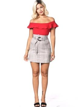 Glen Plaid Dressy Skirt by Papaya