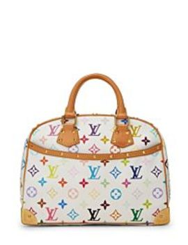 Takashi Murakami X Louis Vuitton White Multicolore Trouville by Louis Vuitton