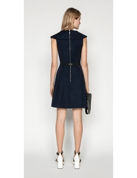 Faille Draped Collar Dress by Cue