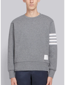 Relaxed Fit Engineered 4 Bar Stripe Cashmere Shell Sweatshirt by Thom Browne