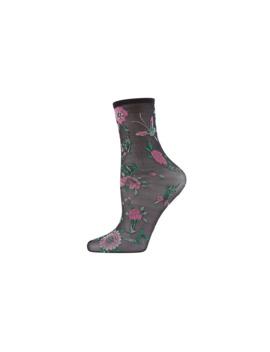 Mariposa Sheer Anklet Socks by Natori