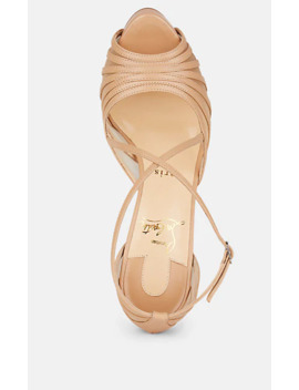 filamenta-leather-&-mesh-platform-sandals by christian-louboutin