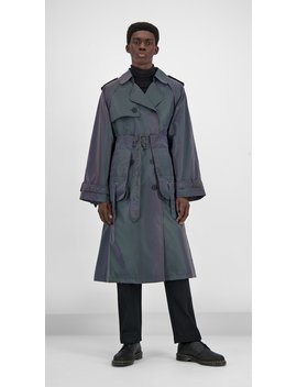 Purple Reflective Gante Coat by Daily Paper