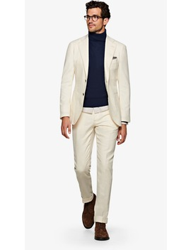 Jort Off White Suit by Suitsupply