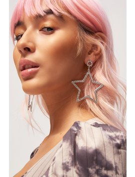 Diamante Star Earrings by Jaded London