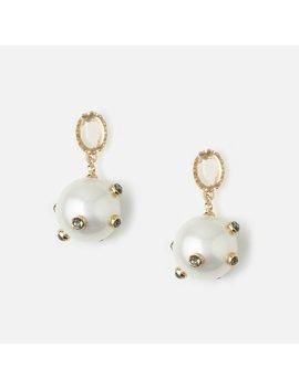 Statement Embellished Pearl Earrings by Orelia