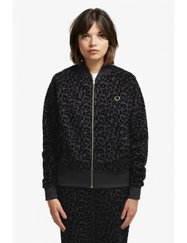 Miles Kane Trainingsjacke Mit Geflocktem Leopardenmuster by Fred Perry
