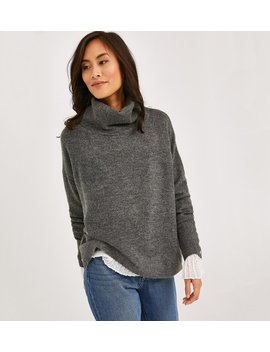 Pull Col Roulé Femme by Promod