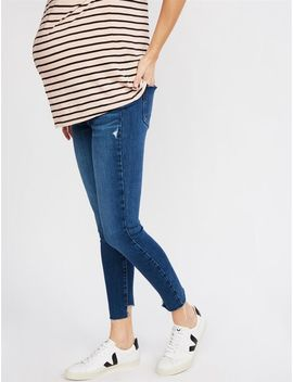 Paige Side Panel Verdugo Ankle Maternity Jeans   Medium Wash by A Pea In The Pod