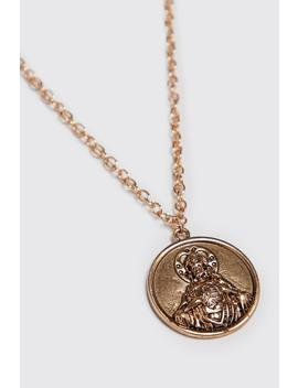 Deboss Coin Pendant by Boohoo