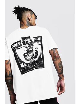 Camiseta Ancha Con Estampado Posterior by Boohoo
