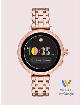 Rose Gold Tone Stainless Steel Scallop Smartwatch 2 by Kate Spade