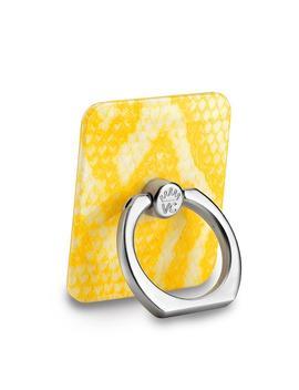 Yellow Snakeskin Phone Ring by Velvet Caviar