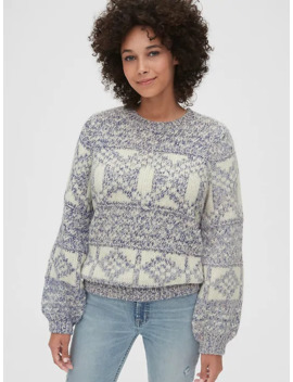 Chunky Fair Isle Crewneck Sweater by Gap