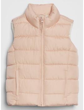 Kids Sherpa Lined Puffer Vest by Gap