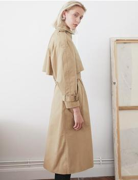 Neck Scarf Trench Coat by Pixie Market