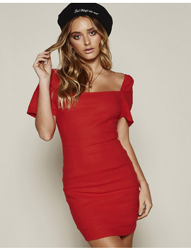 Lost In Paris Dress In Red by Popcherry