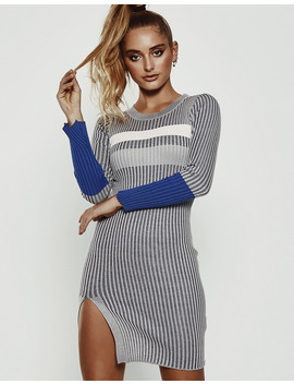 With Or Without You Dress In Grey by Popcherry