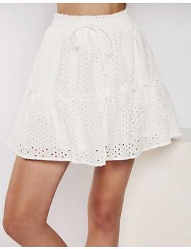 Swept Away Skirt In White by Popcherry