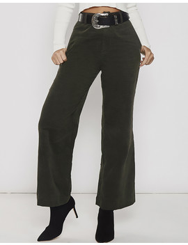 Unkiss Me Corduroy Pants In Green by Popcherry