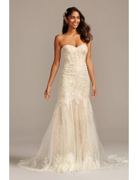 Embellished Lace Corset Bodice Wedding Dress by Melissa Sweet