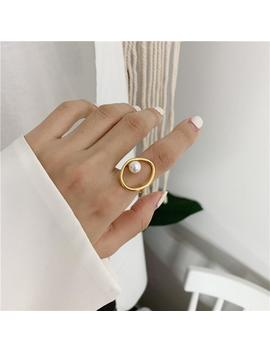 """""""Faux Pearl"""" Ring by Aesthentials"""