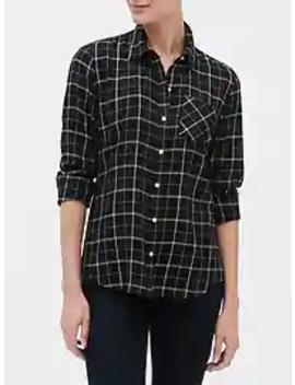 Plaid Shirt In Twill by Gap