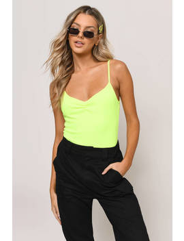 Remind Me Again Neon Yellow Bodysuit by Tobi