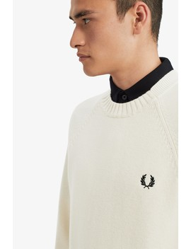 Contrast Texture Crew Neck Jumper by Fred Perry