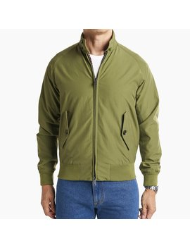 Harrington Jacket   Olive by Peter Manning