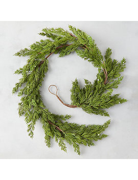Faux Pine + Berry Garland by Terrain