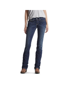 R.E.A.L. Mid Rise Stretch Icon Stackable Straight Leg Jean by Ariat