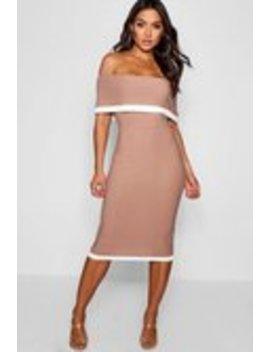 Midiklänning Med Bara Axlar Och Kontrastfärger Midiklänning Med Bara Axlar Och Kontrastfärger by Boohoo