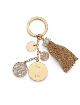 Gold Tassel Key Chain by Things Remembered