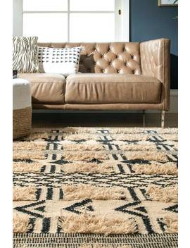 Nacoda Shaggy Tribal Stripes Rug by Rugs Usa